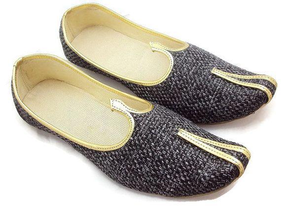 Step n Style Tribal Rajasthani Mujer Piel (hecho a mano bordado zapatos mojari khusa CU564yxu