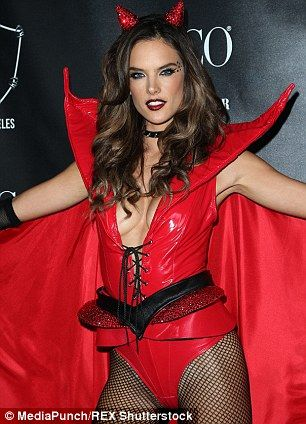 58 best halloween 2016 images on pinterest costume ideas alessandra ambrosio shows some side boob in a racy red devil costume solutioingenieria Images