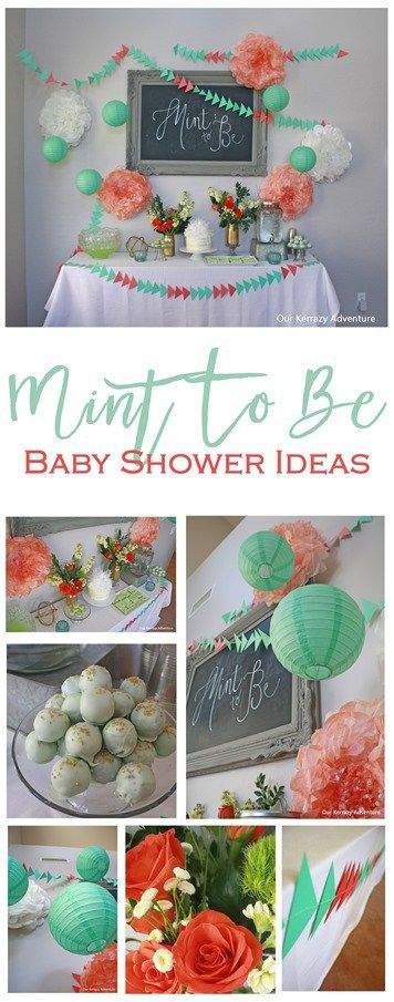 Mint To Be Shower Ideas- Mint and Coral Ideas-