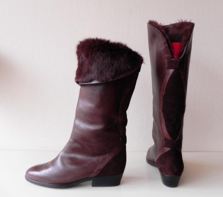 Baldinini #vintage bont laarzen, #boots