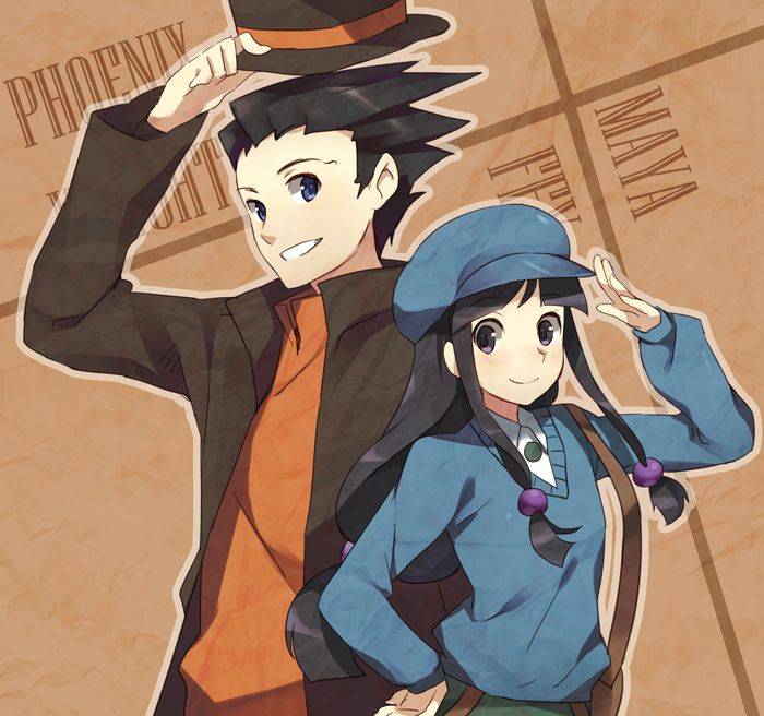 Phoenix Wright and Maya by ~1-kilometer on deviantART
