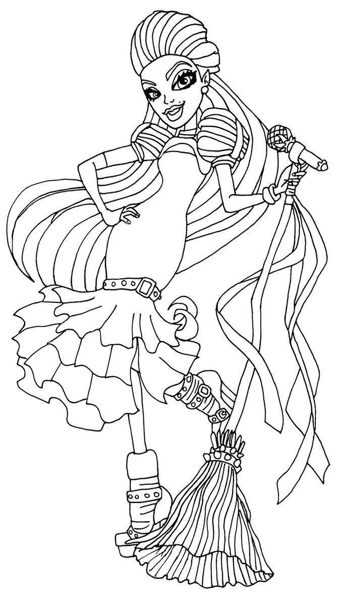 Monster high coloring pages webarella dress ~ Casta Fierce   Coloring Pages.   Pinterest