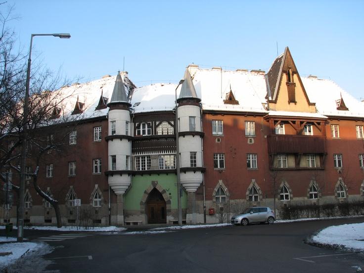 Budapest | Snowy Wekerle Estate (Kispest). view on Fb https://www.facebook.com/BudapestPocketGuide  credit: Budapest Pocket Guide #budapest