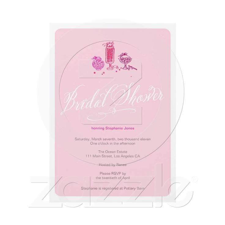 Cute Pink Retro Candy Bridal Shower Invitation