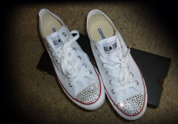 Bedazzled Converse Shoes