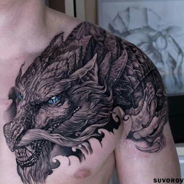 Traditionelle Drachen Tattoos