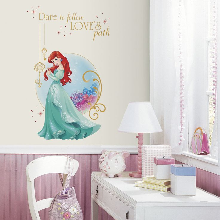 1000 ideas about disney princess decals on pinterest for Disney princess wall mural stickers