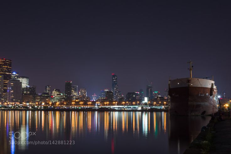"""Toronto skyline as seen from the Polson Pier  Go to http://OutBoardr.com and use code PINTEREST for free shipping on your first order! (Lower 48 USA Only). Sign up for our email newsletter to get your free guide: """"Boat Buyer's Guide for Beginners."""""""
