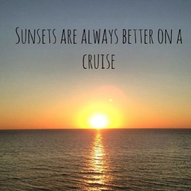 Sunsets are always better on a cruise! Booked so far ahead and I'm very excited for this next one.
