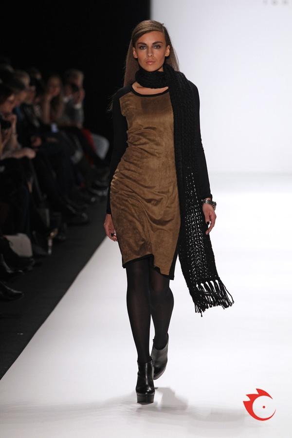 anja gockel - two-sided jersey and alcantara dress