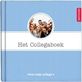 Verras jullie collega! Samen met andere collega's maak je een origineel en persoonlijk boek voor je collega. Met vragen over jezelf, je collega en jullie samen, leg je alle mooie momenten en herinneringen vast. Al vanaf €12,50 op www.belmondo.nl/collegaboek.html