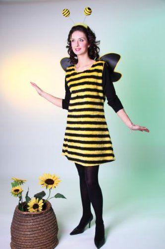 Karneval Damen Kostüm Biene Kleid als Bienenkostüm