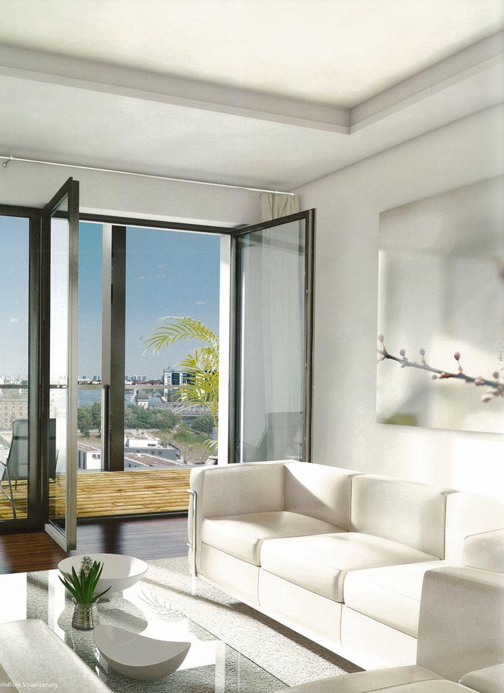 Die besten 25+ Eingerichtetes Wohnzimmer Ideen auf Pinterest - wohnzimmer grose fensterfront