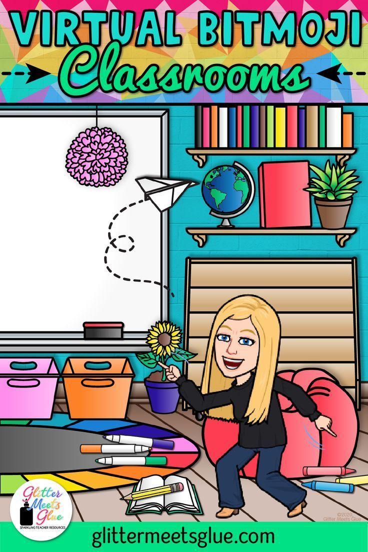 15 Awesome Virtual Bitmoji Classroom Ideas Classroom Background Google Classroom Elementary Art Classroom