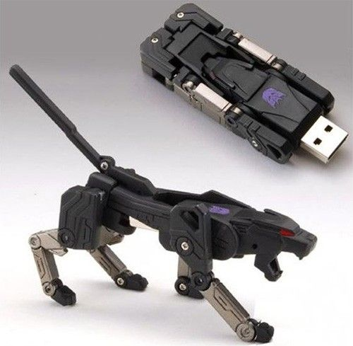 Transformers USB flash drive. I don't care so much that it's transformers. Just that it's soooo cool. Unless someone wants to take a cool looking toy, they won't steal your flashdrive. Haha