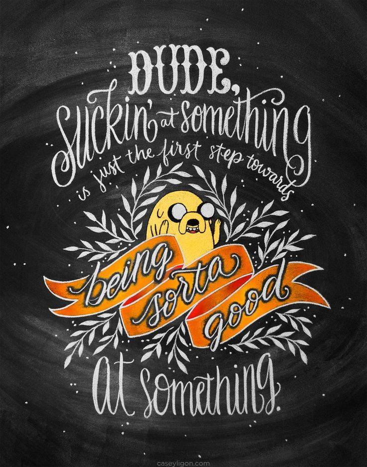 Sicking at something by Casey Ligon http://www.fromupnorth.com/lettering-calligraphy-inspiration-1150/
