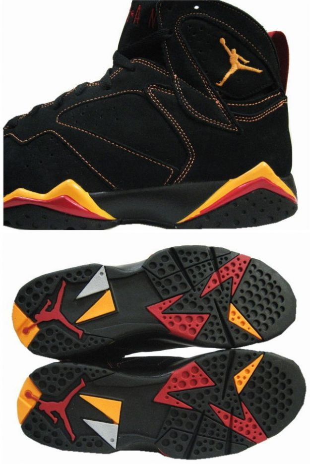 Air Jordan 7 (VII) Retro - Black / Citrus - Varsity Red