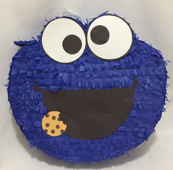 Reaedy to Ship Out Cookie Monster Pinata Elmo by Thebestpinataever