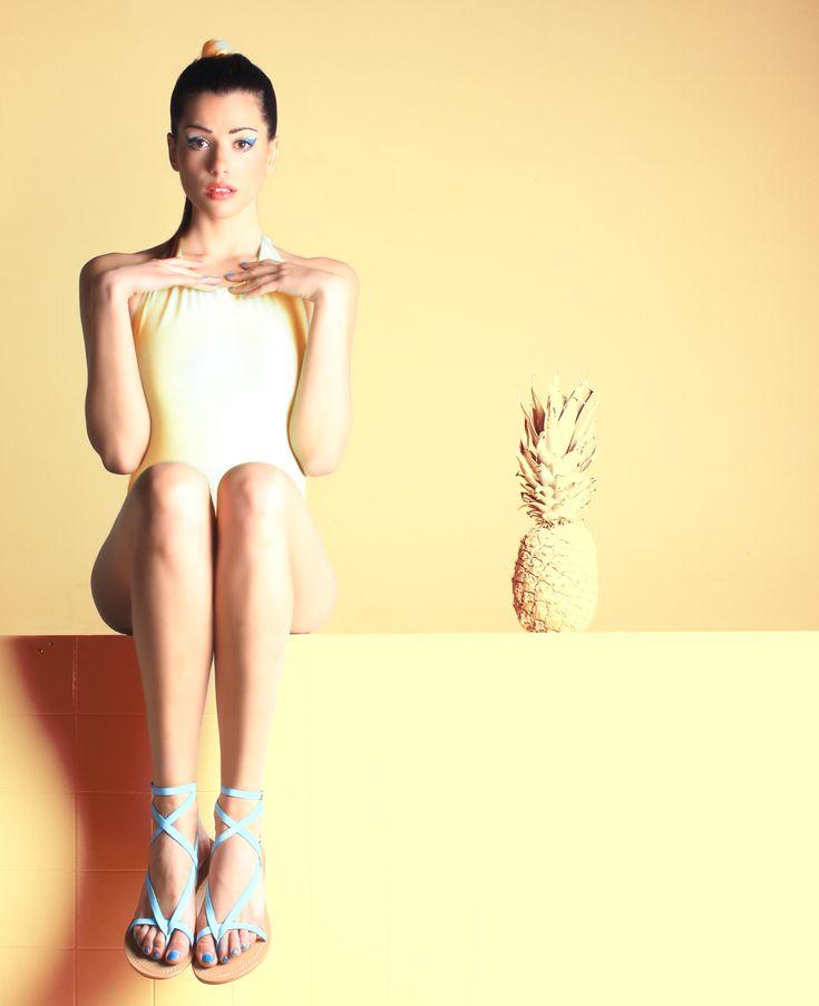 Roman Light Blue Sandal.