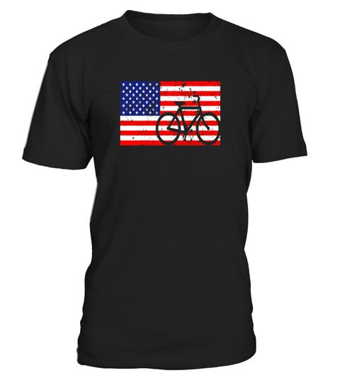 Funny 4th of July Bicycle Cyclist T Shirt