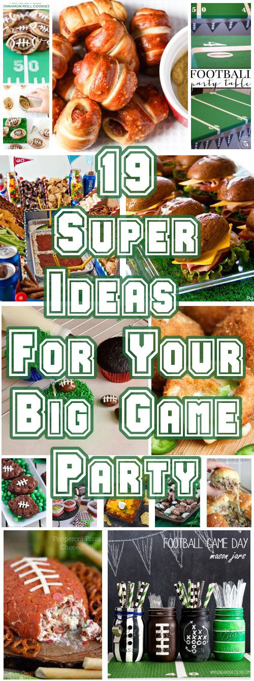 Are you ready for some football? Today we're sharing 19 Super Ideas for Your Big Game Party. These ideas will give you plenty of appetizer inspiration and DIY ideas to get you ready to host the perfect Big Game Party! #superbowl #partyfood #partyideas via @ahbsessed