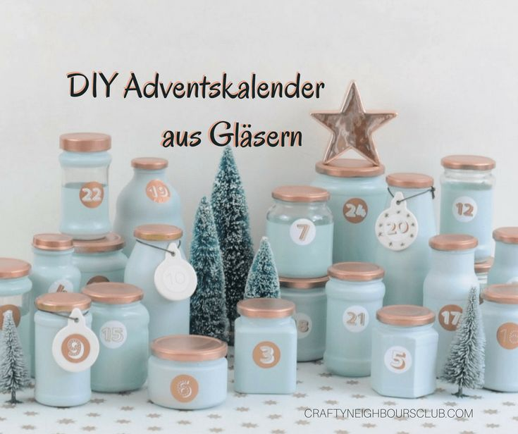 upcycling adventskalender aus alten gl sern gl ser und. Black Bedroom Furniture Sets. Home Design Ideas