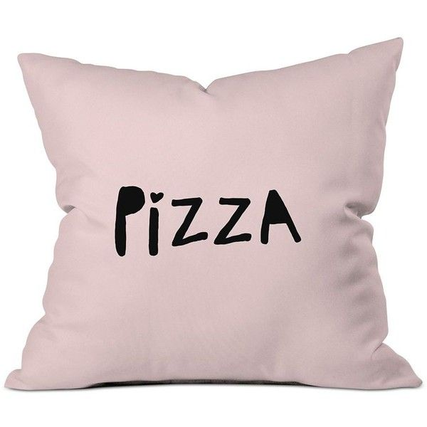 Deny Designs Allyson Johnson Pizza Pink Throw Pillow ($65) ❤ liked on Polyvore featuring home, home decor, throw pillows, pink, pink home accessories, deny designs, pink home decor, italian home decor and pink flamingo home decor