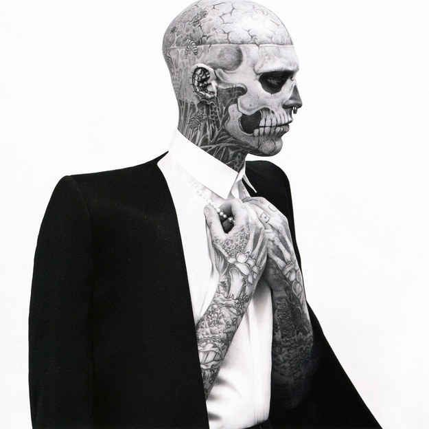 Remember totally tattooed model guy Ric Genest? | This Hot Male Model Has More Face Tattoos Than You