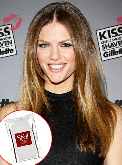 Brooklyn Decker slips on the amino acid-and protein-drenched SK-II Facial Treatment Mask