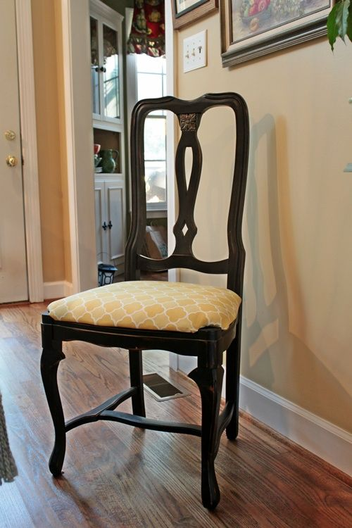 The 25 best recover chairs ideas on pinterest reupholster furniture dining chair covers and - Recovering dining room chairs ...