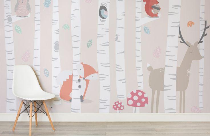 Kids Woodland Scene Wall Mural | Murals Wallpaper