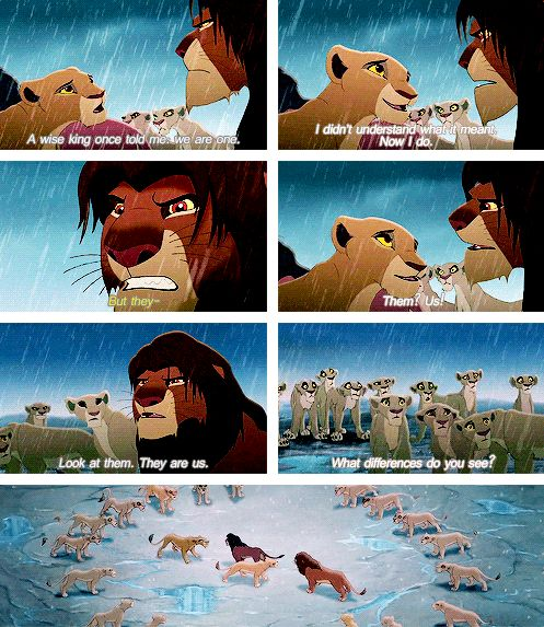 People should really take a good look at this movie. It's not a bad sequel to be perfectly honest. We could learn so much... -----Not a bad sequel? Girl, this was my CHILDHOOD! I like it more than the first one! (Mainly because, let's face it, young Simba is a BRAT)