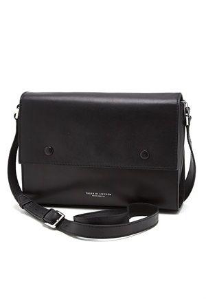 TIGER OF SWEDEN Mauti Lether Bag 050 Black