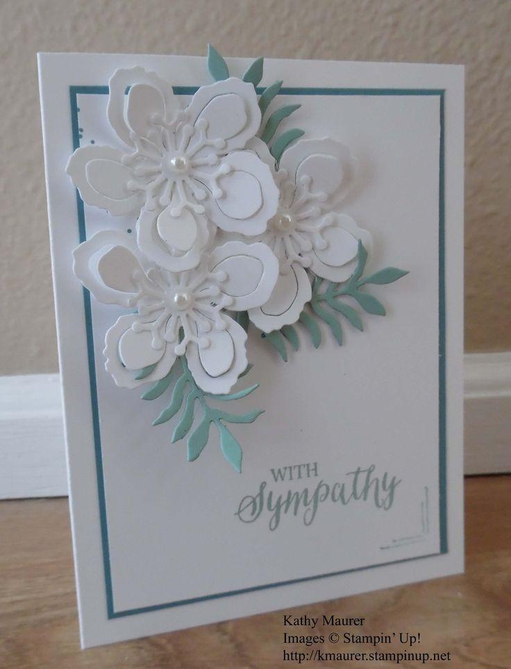 Kathy's Blog  Monday, April 18, 2016  Botanical Builder Sympathy Card Stampin ' Up! Botanical Builder Framelits, Gorgeous Grunge, Helping Me Grow, Rose Wonder