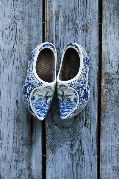 I had a tiny pair of wooden shoes just like these pinned inside of my wedding dress to represent my Dutch heritage.