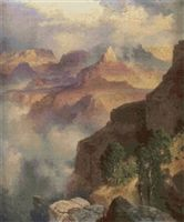 A Bit of the Grand Canyon Cross Stitch Pattern - Thomas Moran - Hudson River School
