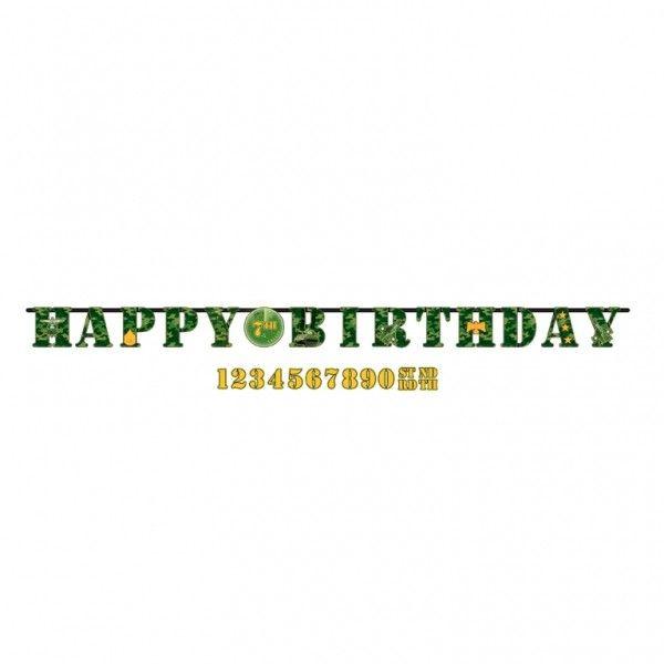 Guirlande anniversaire Camouflage militaire
