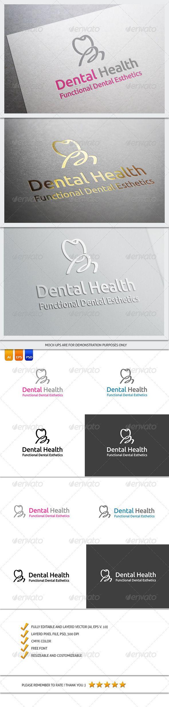 Dentist Logo Template  #GraphicRiver        FILE DESCRIPTION  Vector (AI, EPS) and Graphic