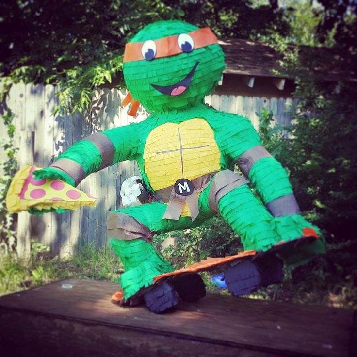 Michelangelo Ninja Turtle pinata!