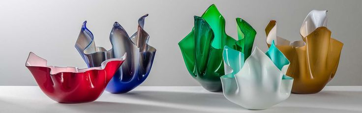 Venini vasi Venini Fazzoletto design vetro incamiciato Reggio Caalbria regali liste nozze