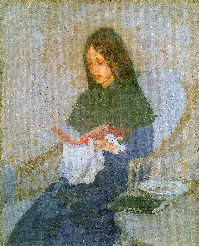 The Precious Book (late, 1910-1926). Gwen John (1876-1939) Welsh painter, Post-Impressionism. Oil on canvas.