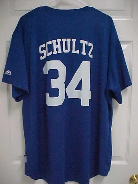 SCHULTZ 34 Los Angeles Dodgers Blue Cool Base Baseball Jersey XL Majestic  New  Majestics  LosAngelesDodgers 24f835d97