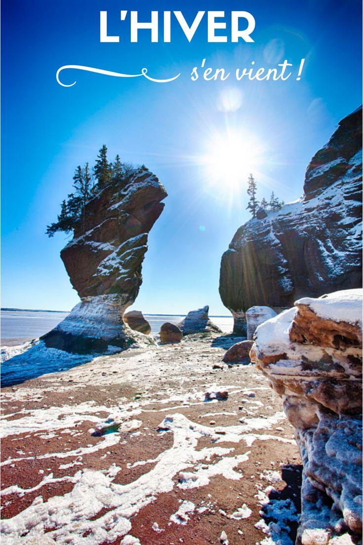 L'hiver s'en vient! // Les Rochers Hopewell Rocks à marée basse, Baie de Fundy, Nouveau-Brunswick Canada.