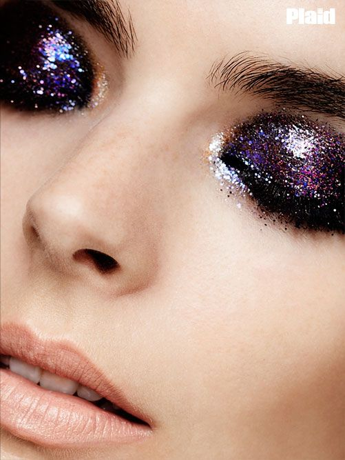 The-Eyes-Have-It---Beauty-Editorial-for-Plaid Mag-2 #glitter #nye #eyes