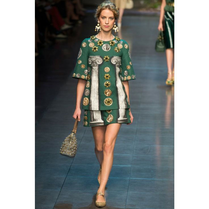 #dolcegabbana - printed linen and cotton-blend skirt