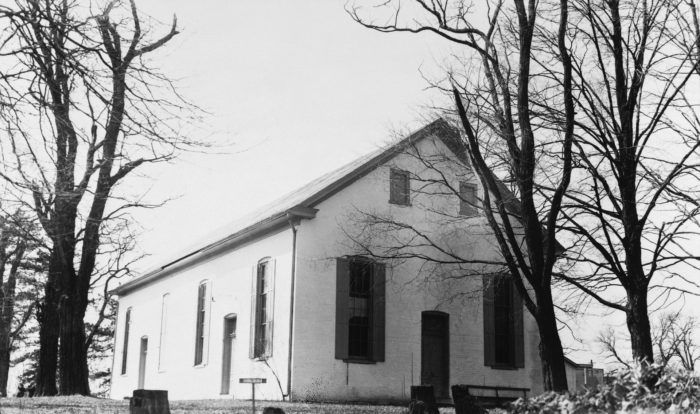 The Quaker Meeting House (pictured) is another infamously haunted building in Waynesville.