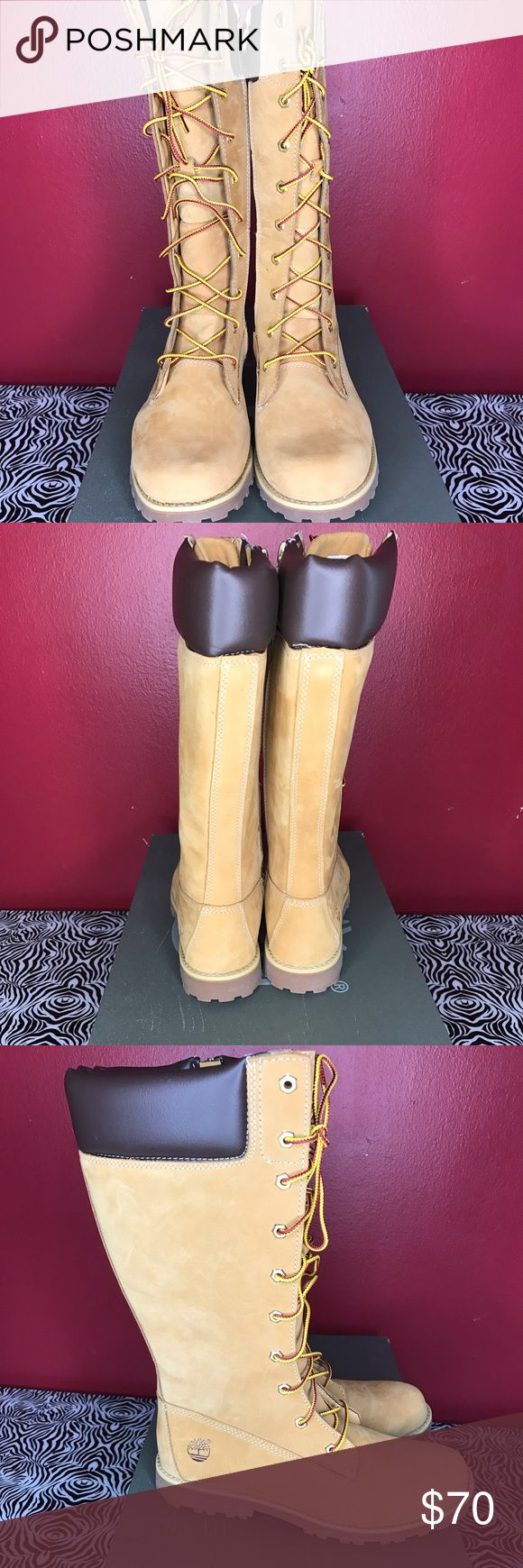 Junior's Timberland Boots Wheat color, tall Timberland Shoes Winter & Rain Boots
