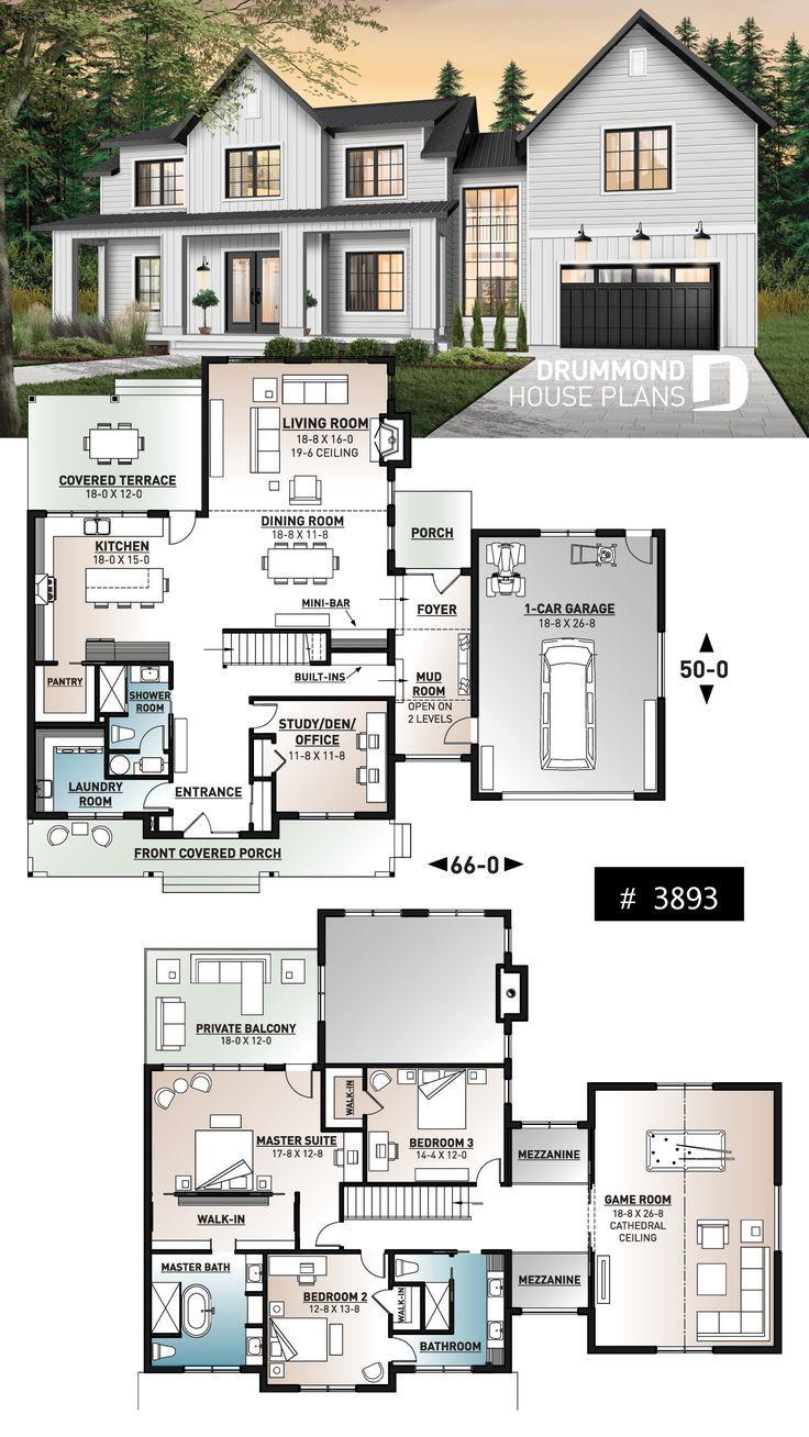 #Bauernhausstil #house plans #mit #Moderner #über…