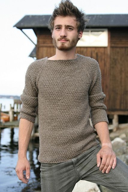 I can honestly say that I don't know if I like the actual sweater or the model more....
