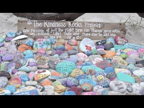 The Kindness Rocks Project was created to spread inspiration and motivation for unsuspecting recipients through random inspirational rocks dropped along the ...  #TheKindnessRocksProject #PayItForward #PassItOn #Kindness #BePresent #Share #OMagInsiders